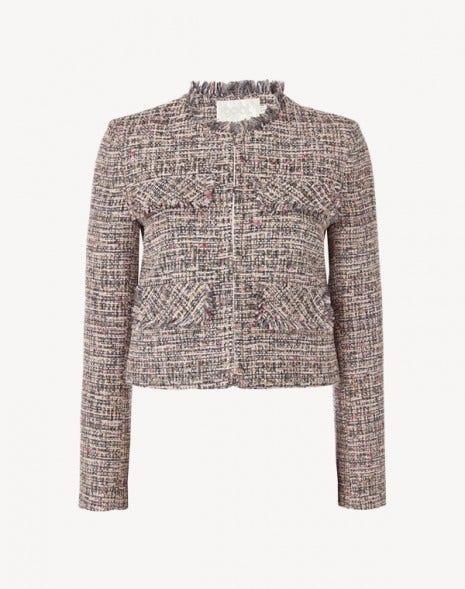 Coco Jacket Pink Tweed