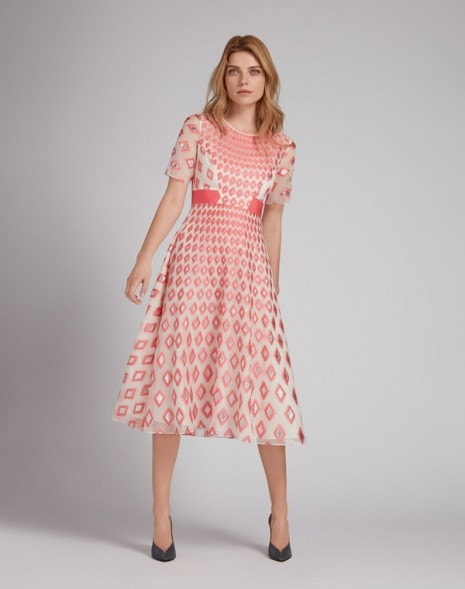 Edelweiss Organza Dress Bubblegum