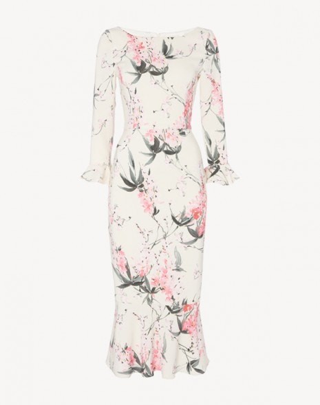 Gigi Dress Pink Wisteria Print