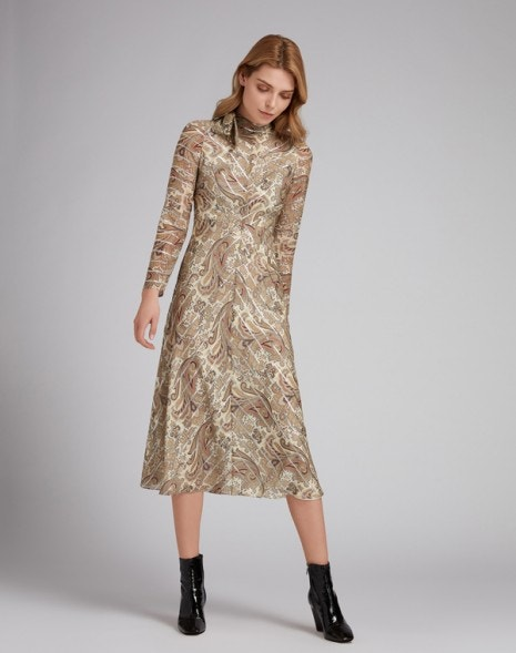 Ianthe Dress Caramel Paisley