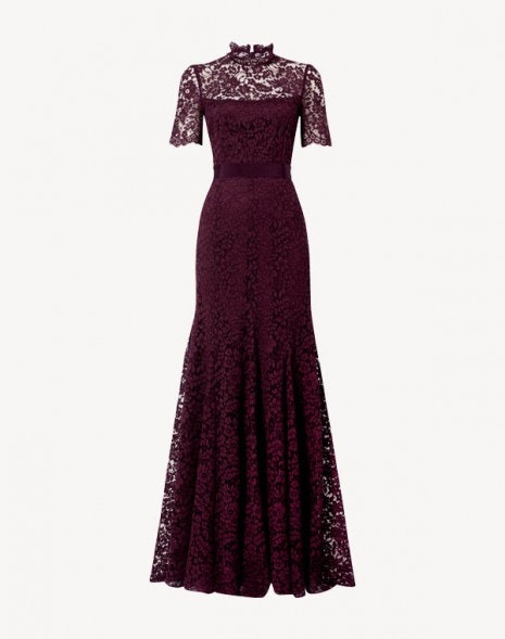 Imelda Lace Gown Damson