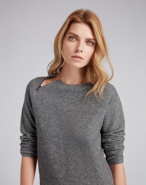 Isadora Sweater Grey Fleck