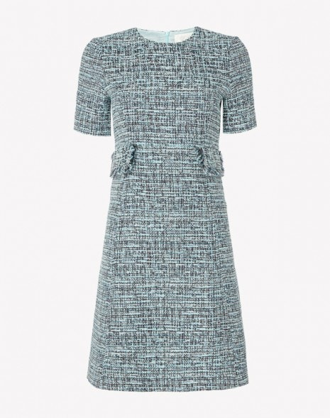 Joelle Dress Aqua Tweed