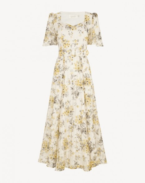 Julip Dress Yellow Flower Check