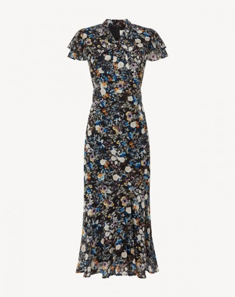 Kalista Dress Blue Wildflower