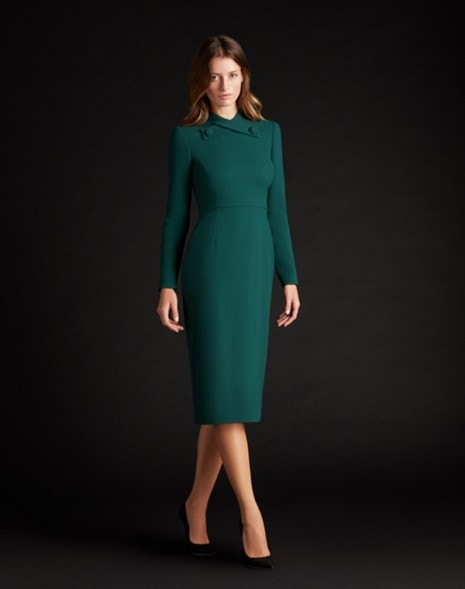 Katty Dress Dark Emerald