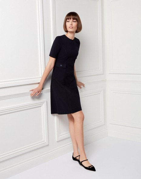 Kirby Jersey Dress Dark Navy