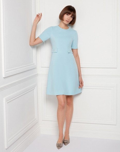 Kirby Jersey Dress Pale Blue