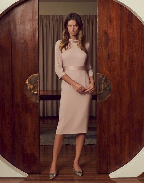 Klarissa Cady Dress Cameo Pink