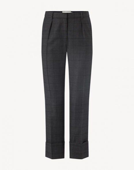 Kooper Check Trousers Dark Grey