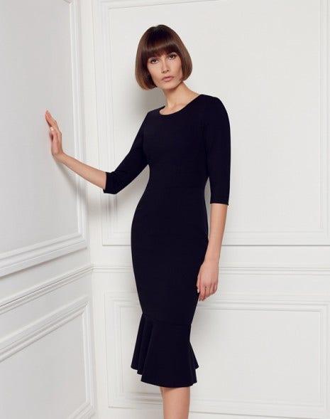 Kristina Jersey Dress Dark Navy