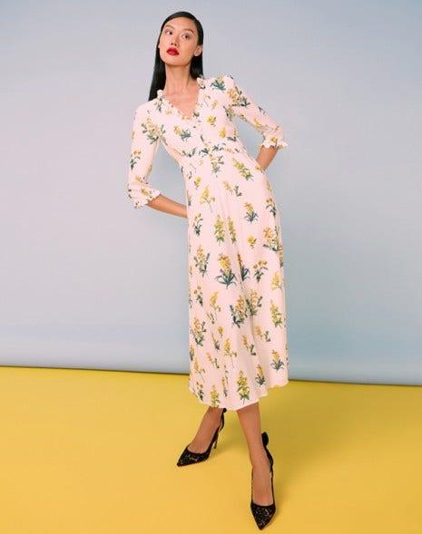 Laurelle Dress Cream Meadow