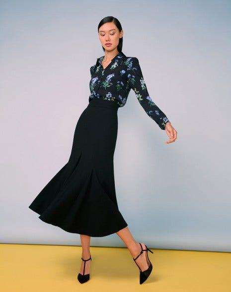 Lila Midi Skirt Black