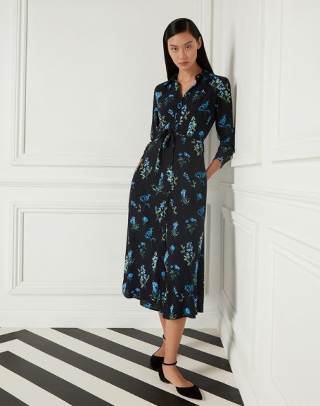 Livia Shirt Dress Black Meadow