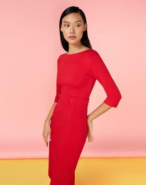 Loretta Jersey Dress Raspberry