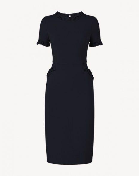 Lucille Jersey Dress Dark Navy
