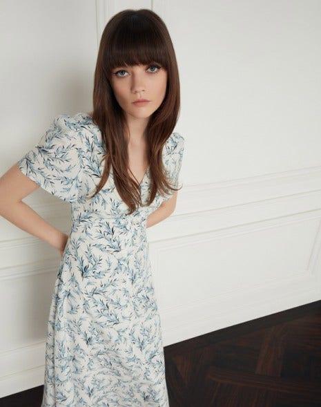 Meadow Dress Cream Sprig