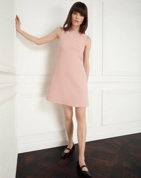 Monique Dress Tea Rose