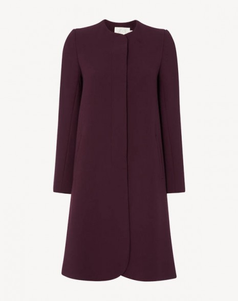 Redgrave Longer Length Coat Damson