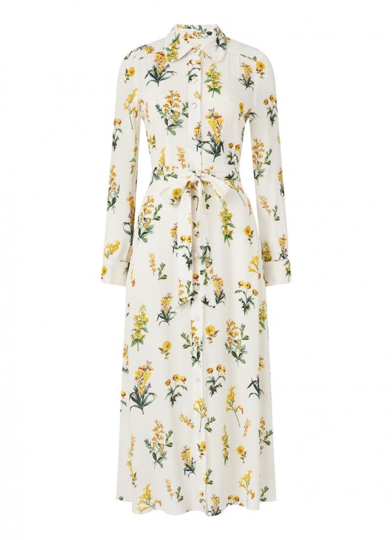 Livia Shirt Dress Cream  Meadow