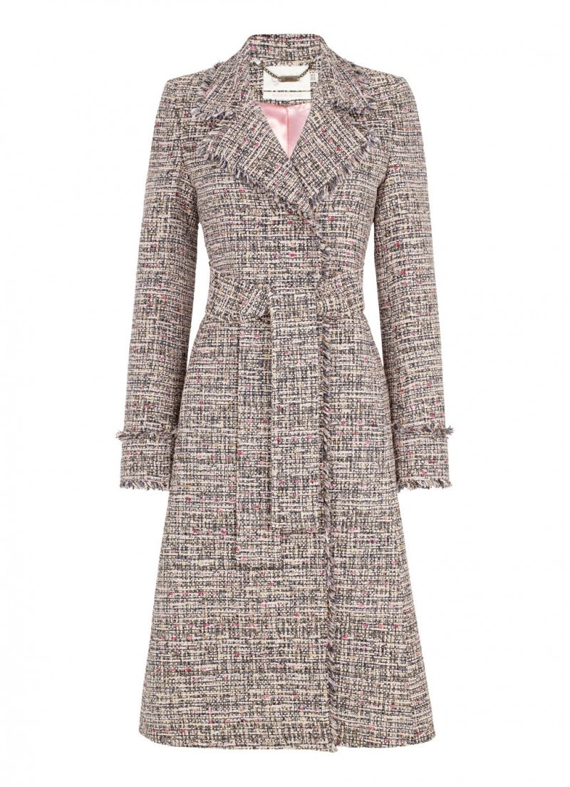 Rae Tweed Coat Pink