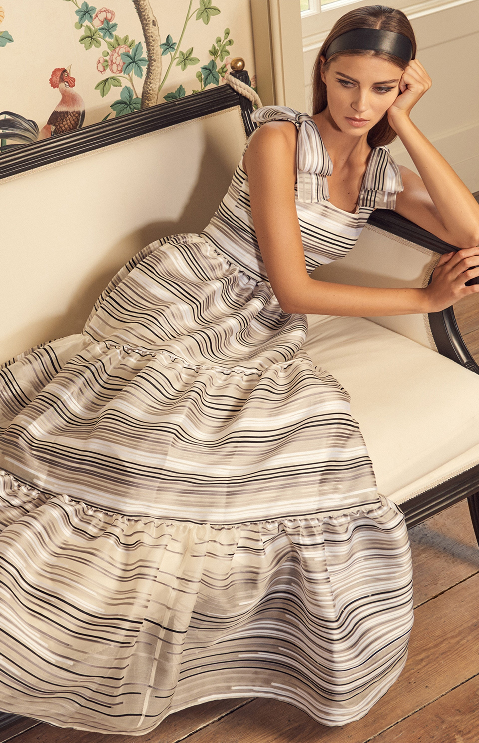 Image result for organza stripe gown