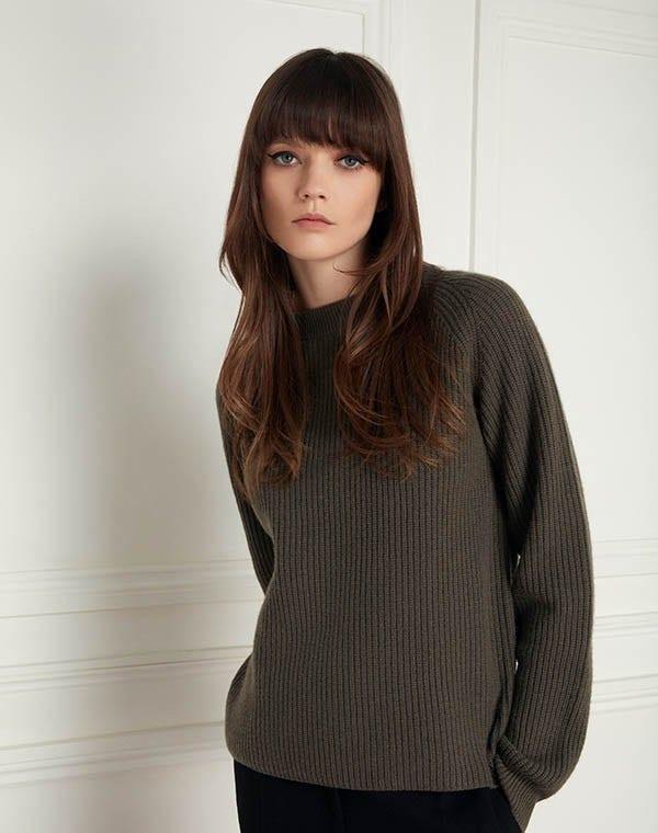 Murray Cashmere Sweater Moss Green