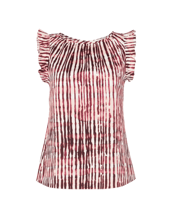 Freud Top - Plum Stripe