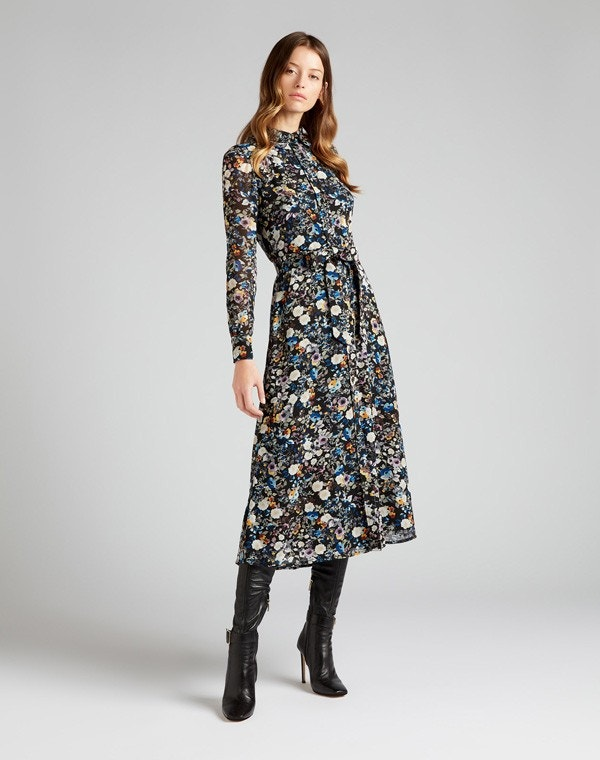 Geneva Dress Blue Wildflower