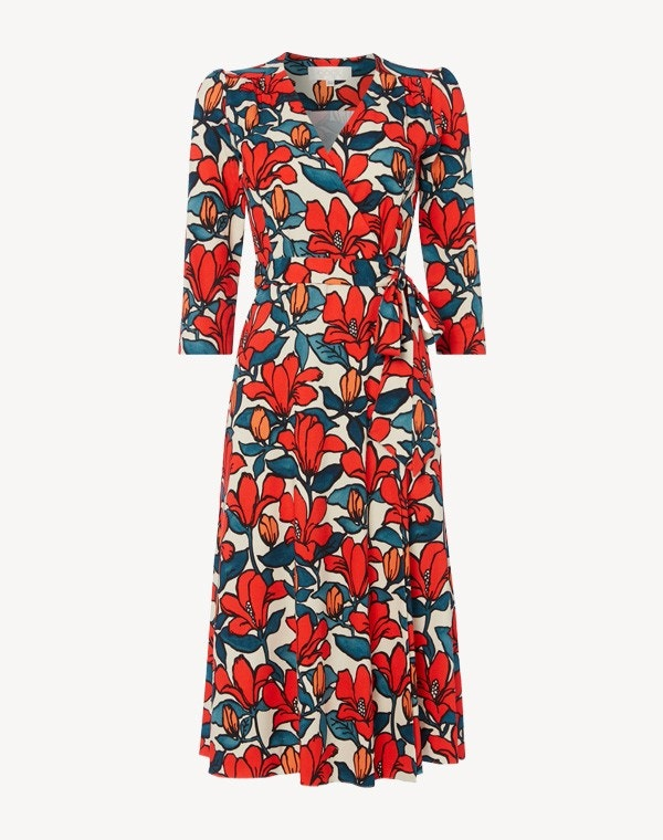Glenda Dress Red Hibiscus