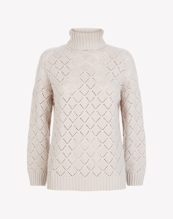Ilse Roll Neck Sweater Ecru