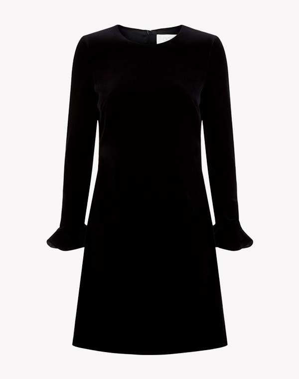 Isla Velvet Dress Black