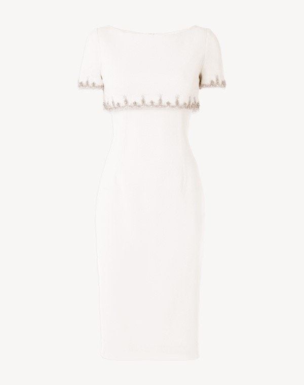 Jacqueline Beaded Dress Cream