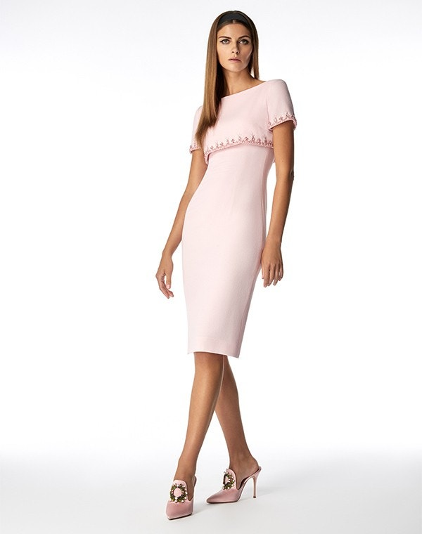 Jacqueline Beaded Dress Rose