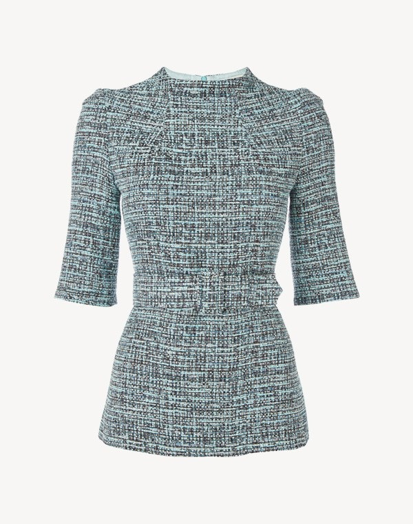 Jasper Top Aqua Tweed