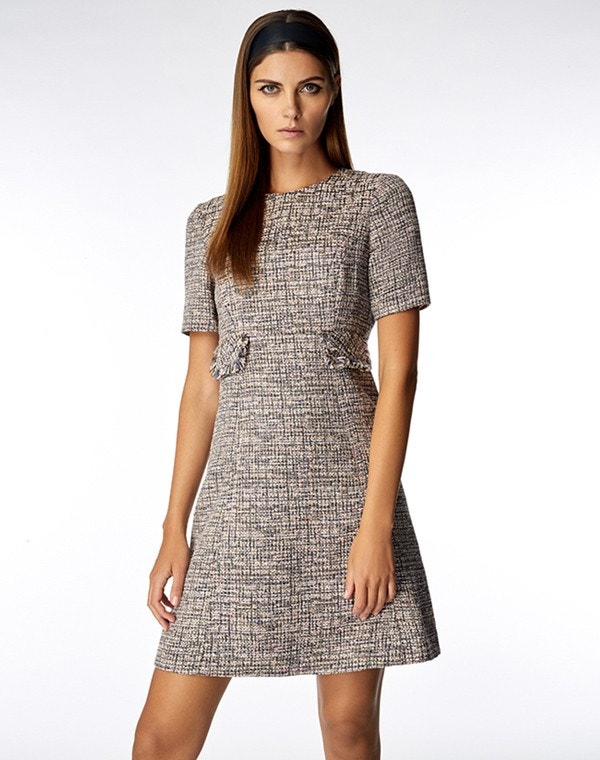 Joelle Dress Pink Tweed