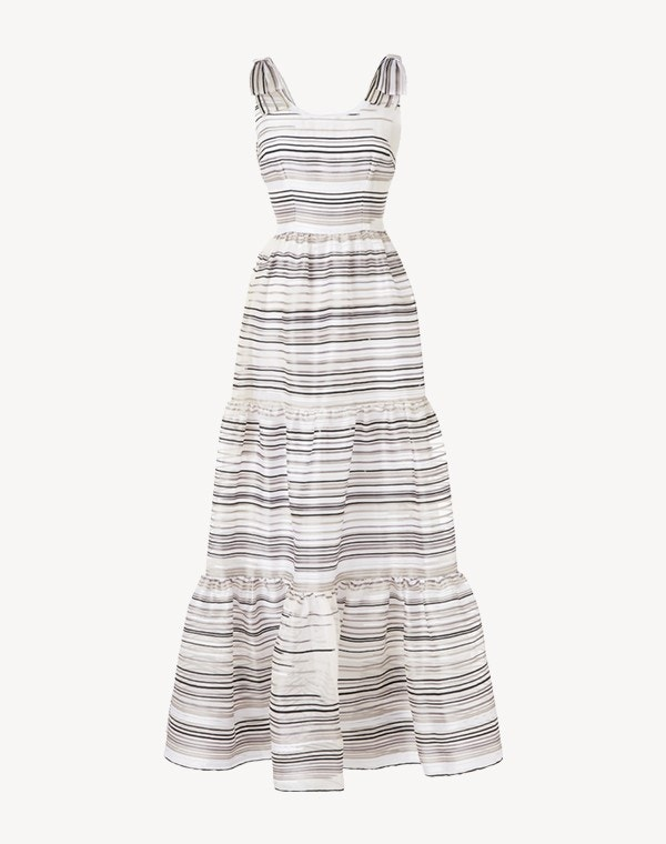 Jupiter Gown Monochrome Stripe