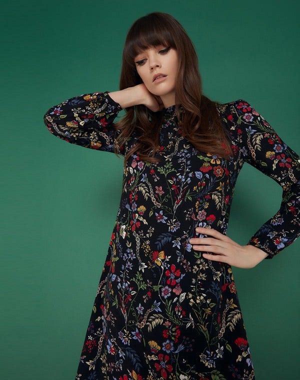 Mable Dress Black Secret Garden
