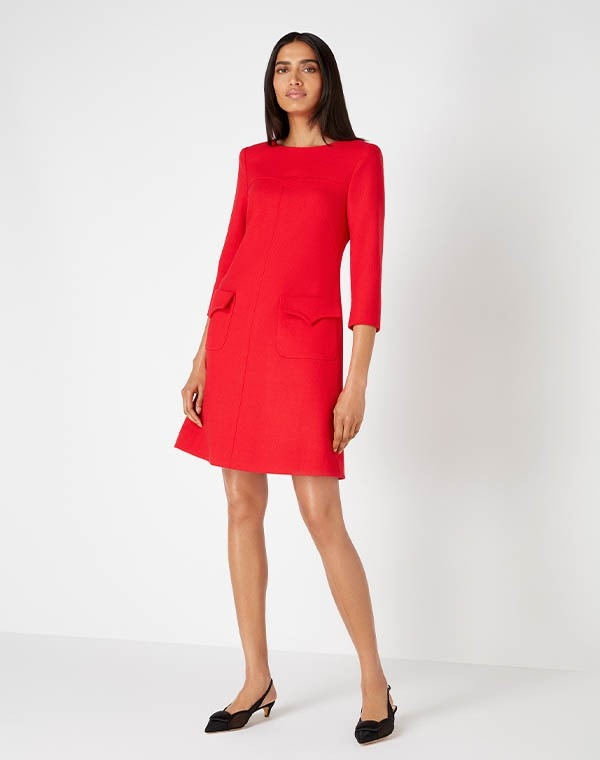 Nancy Shift Dress Red