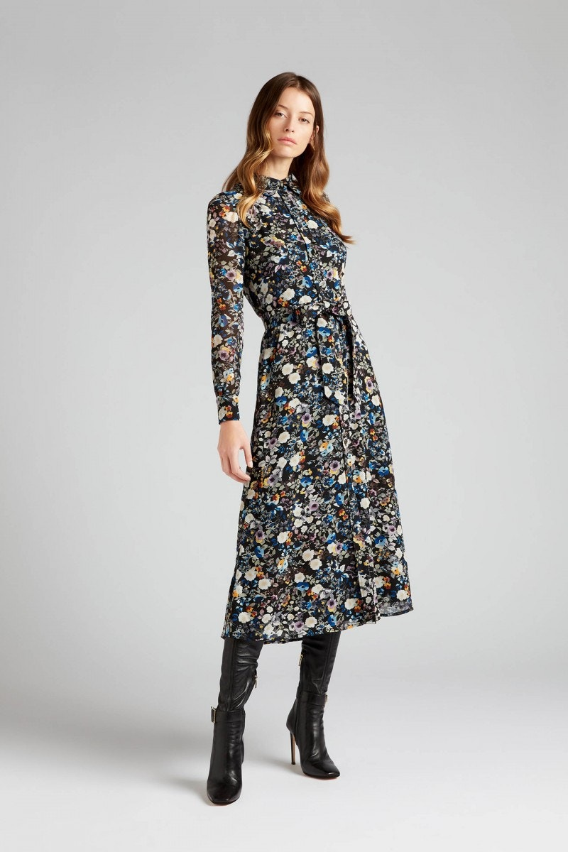 Geneva Dress Blue Wildflower