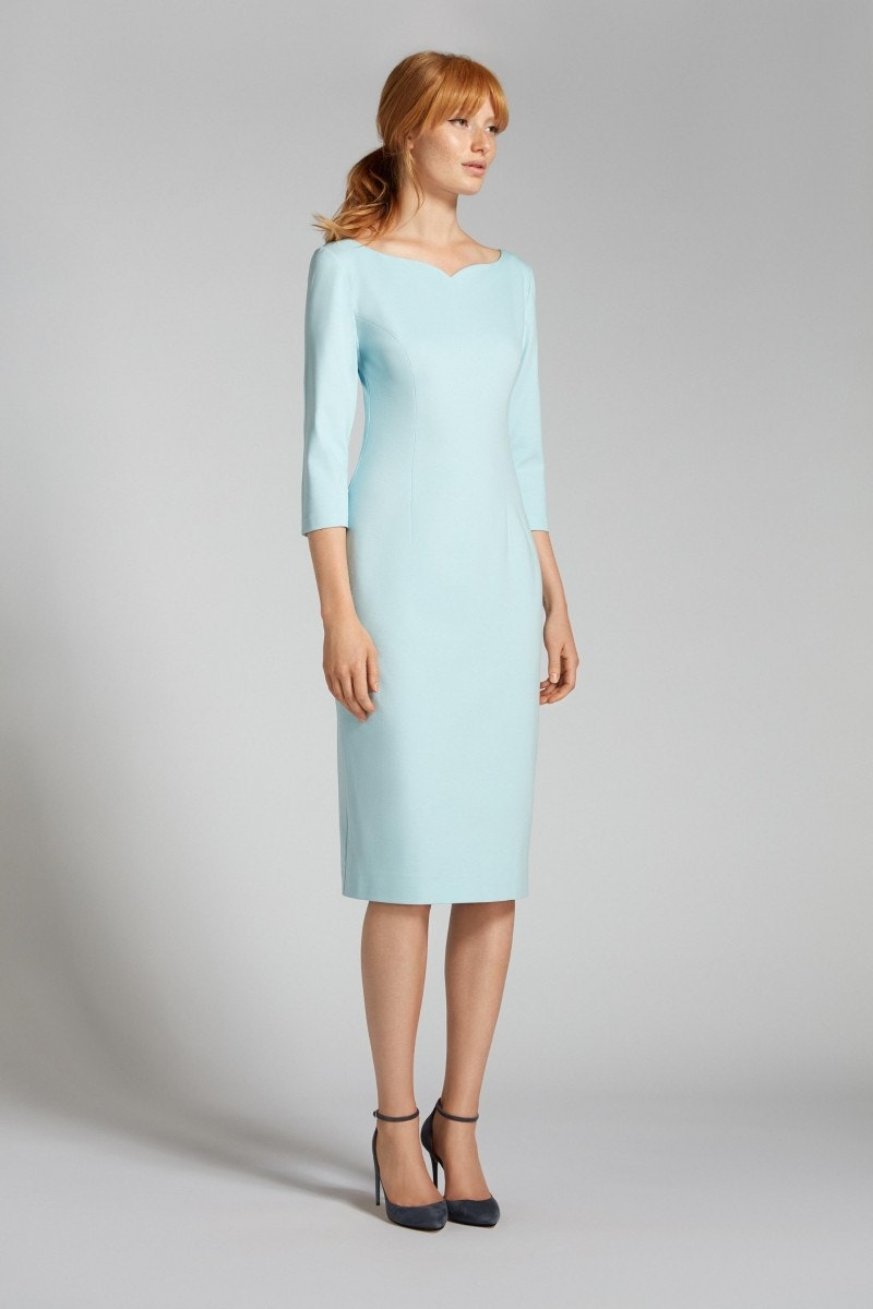 Hilton Dress Pale Blue