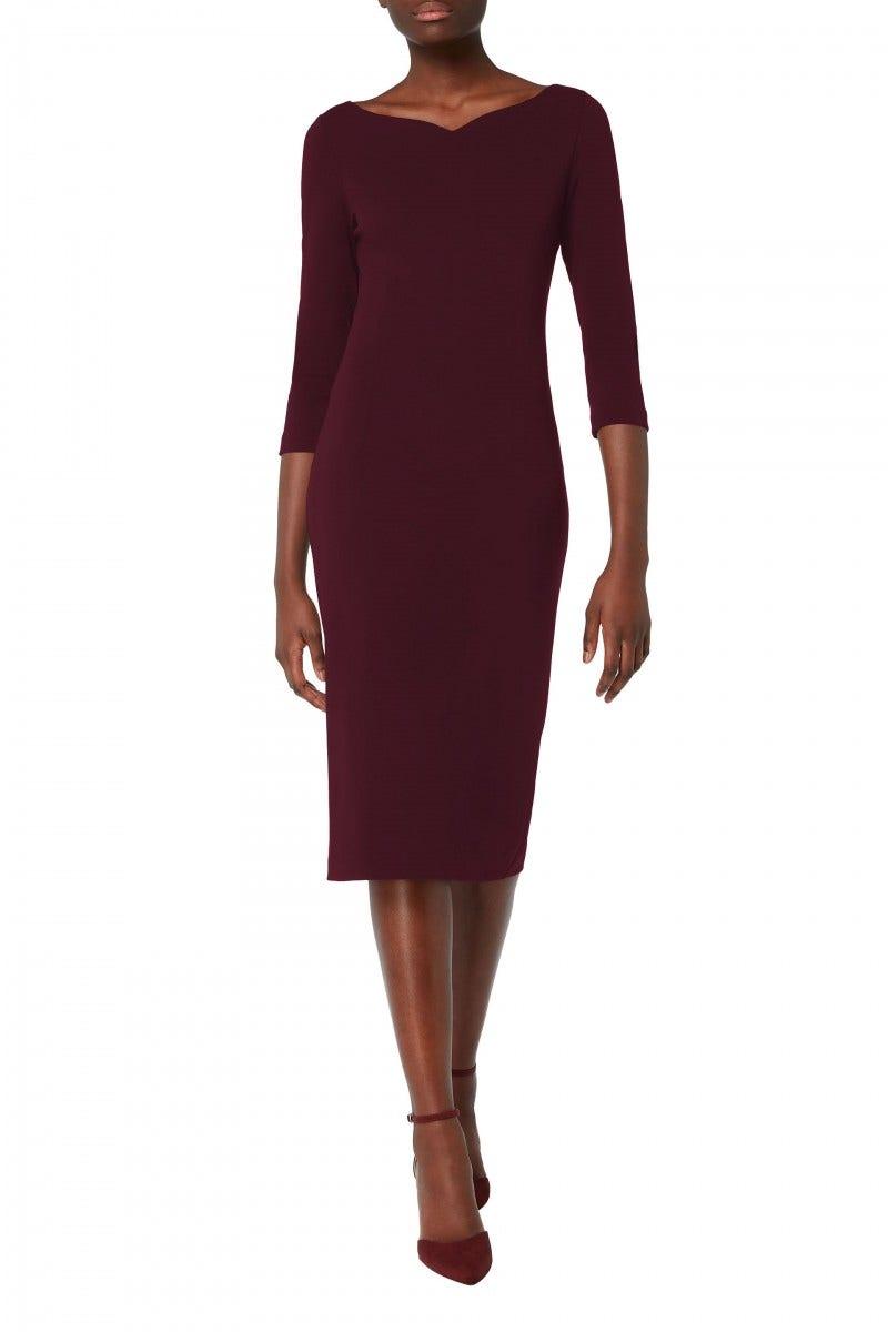 Hilton Jersey Dress Damson