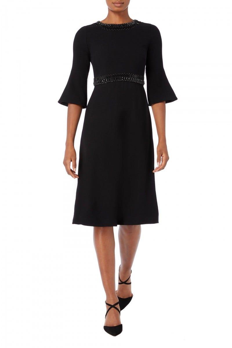 Islay Beaded Dress Black