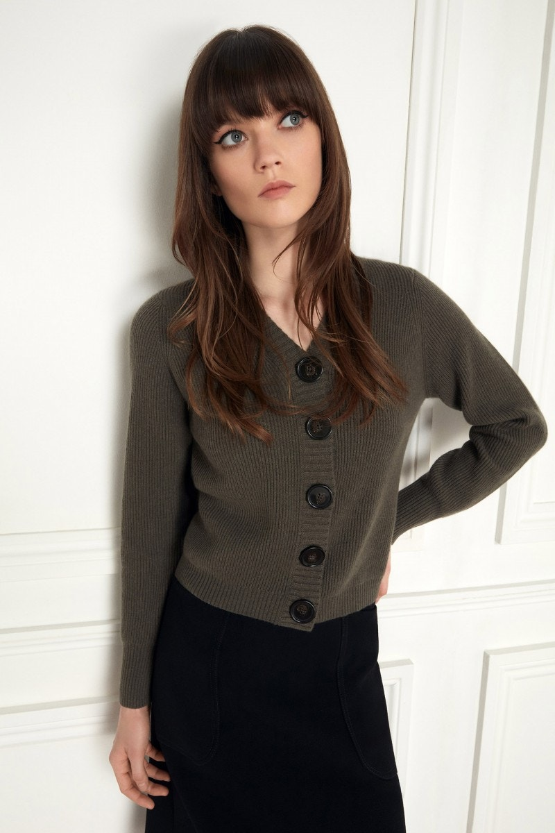 Kimbella Cardigan Moss Green