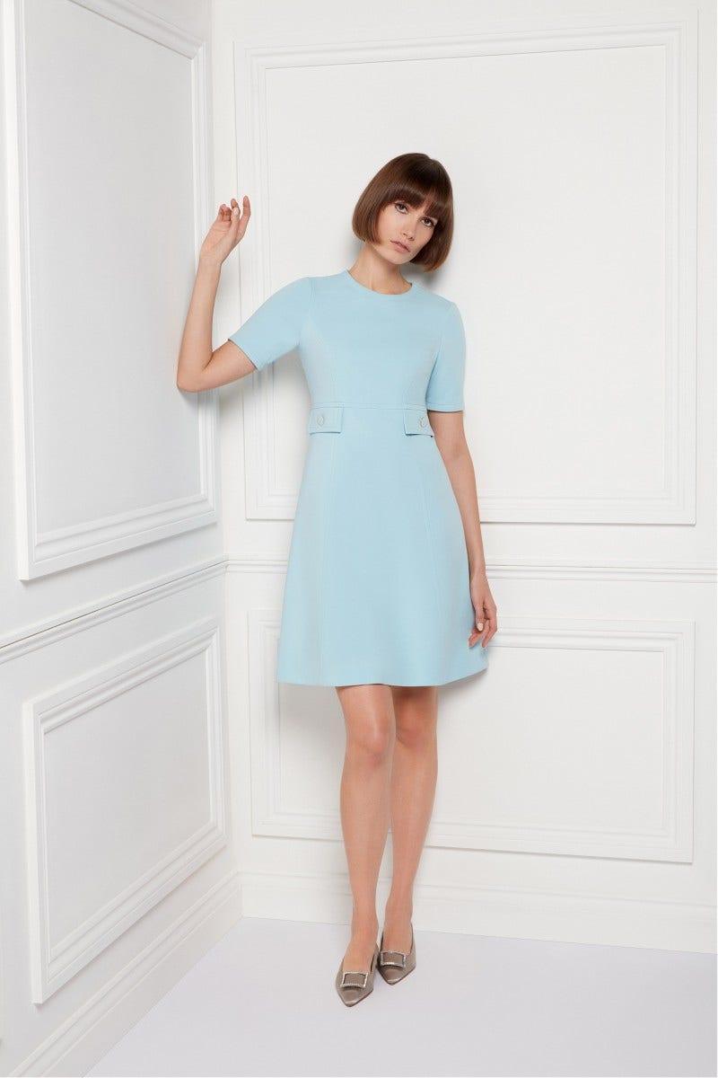 Kirby Jersey Dress Pale Blue