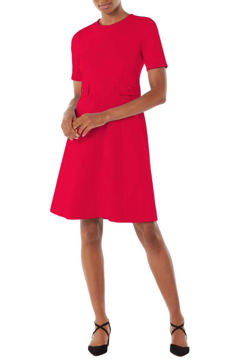 Kirby Jersey Dress Raspberry