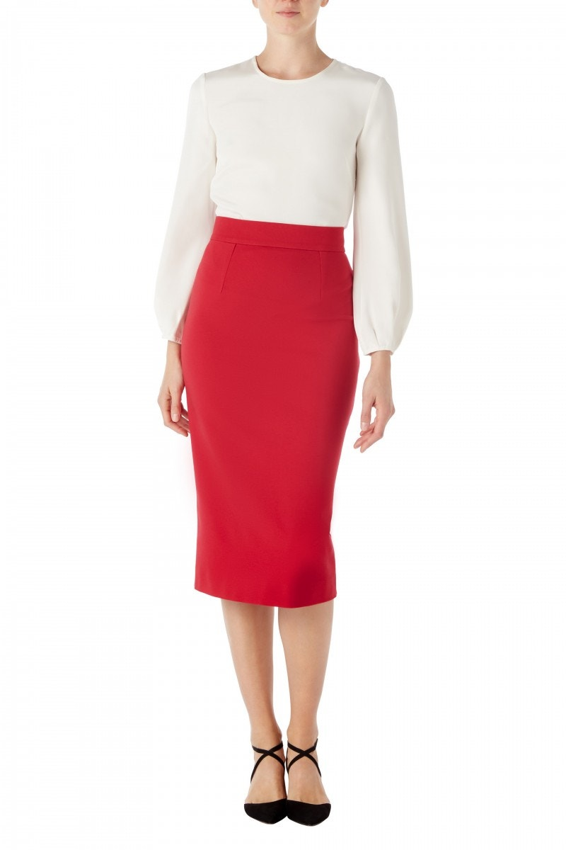 Kody Jersey Skirt Raspberry