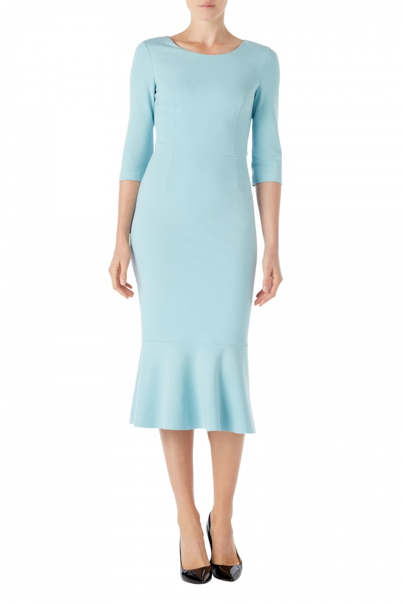 Kristina Jersey Dress Pale Blue