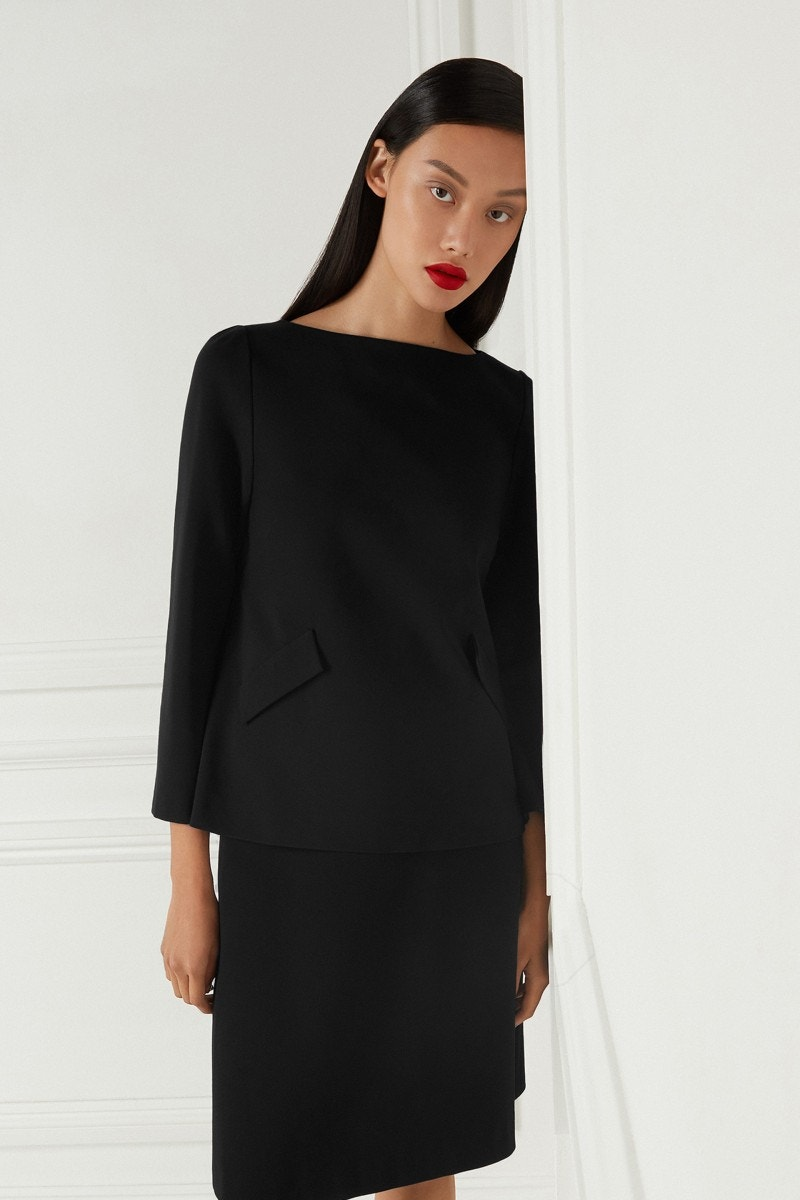 Lark Jersey Top Black