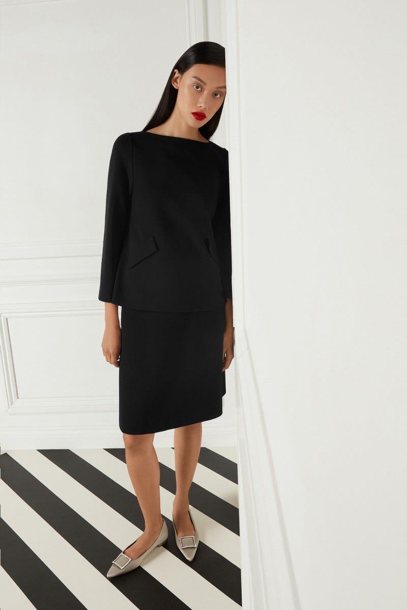 Lear Jersey Skirt Black